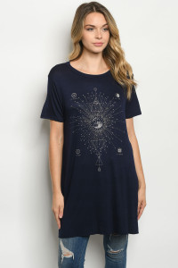C61-A-3-TK7156 NAVY TOP 2-2-2