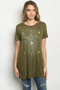 C61-A-3-TK7156 OLIVE TOP 2-2-2