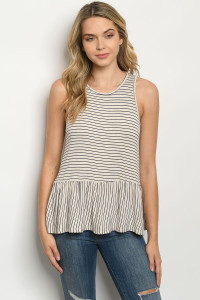 C50-B-1-T2985ST OATMEAL NAVY STRIPES TOP 4-1