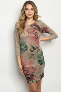 C42-A-1-D7213123 MOCHA WITH FLOWER DRESS 1-2-2