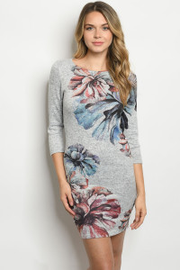 C40-A-2-D7213124 GRAY WITH FLOWER DRESS 2-2-2