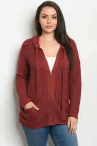 S19-12-2-S1282X BURGUNDY PLUS SIZE SWEATER 4-3