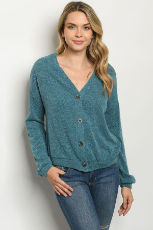 S22-6-3-T8356 TEAL SWEATER 2-2-2