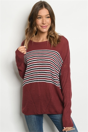 S9-14-2-S1735 BRICK STRIPES SWEATER 3-3