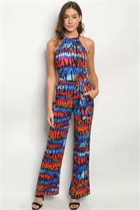 S19-6-1-J50479 BLUE MULTI JUMPSUIT 2-2-2