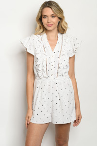S18-5-1-R81998 OFF WHITE WITH DOTS ROMPER 2-2-2