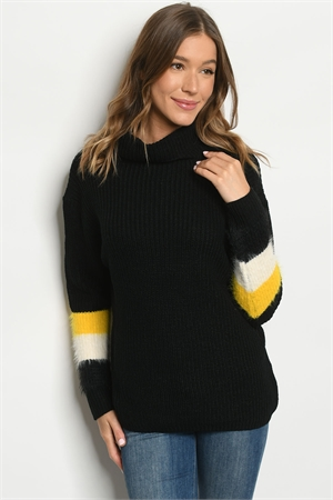 S23-5-1-S6602 BLACK SWEATER 2-2-2