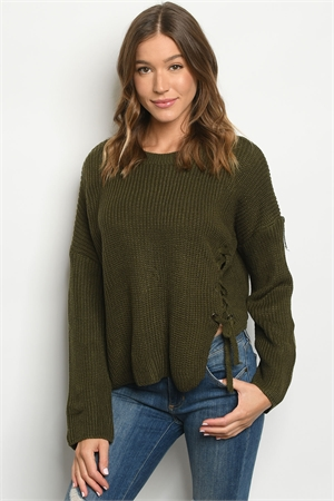 S12-8-3-S1003 OLIVE SWEATER 3-3