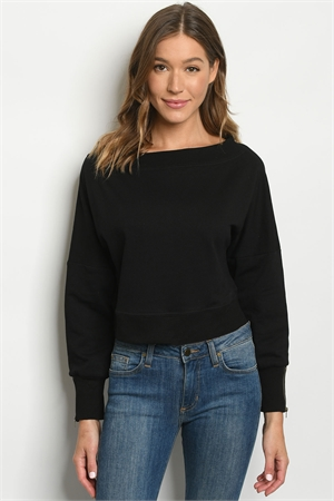 S11-19-3-S14015 BLACK SWEATER 2-2-2