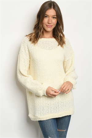 S12-9-3-SMCT1069 IVORY SWEATER 2-2-2