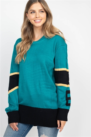 S12-8-4-S3029 EMERALD BLACK SWEATER / 6PCS