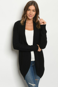 S22-8-3-C2414 BLACK CARDIGAN / 4PCS