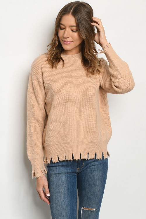 S21-10-1-S1739 BLUSH SWEATER / 6PCS