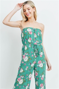S18-6-2-J95066 GREEN FLORAL JUMPSUIT 3-2-1