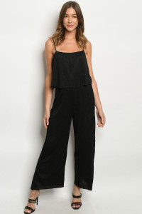 C58-A-2-J6756 BLACK JUMPSUIT 3-2-1