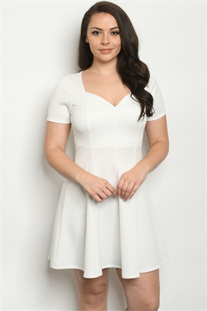 S13-8-4-D715X IVORY PLUS SIZE DRESS 2-2-2