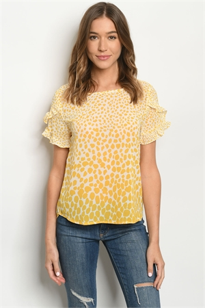 S15-11-4-T51023 MUSTARD IVORY TOP 2-2-2
