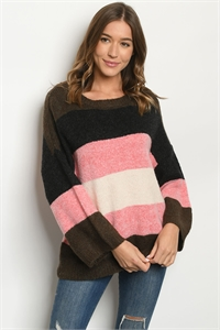 S11-11-1-S1200 BLACK PINK SWEATER / 6PCS
