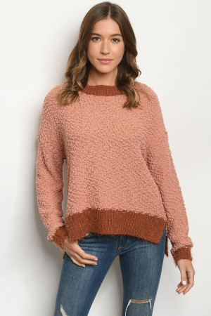 S15-4-3-S11977 APRICOT RUST SWEATER 4-3