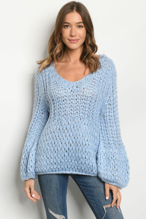 S22-11-2-S6564 BLUE SWEATER 3-2