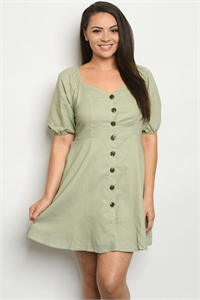 S9-20-3-D55966X SAGE PLUS SIZE DRESS 2-2-1