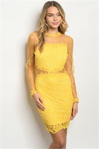 S14-12-1-D3451 YELLOW DRESS 2-2-2