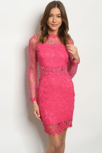 S14-5-3-D3451 FUCHSIA DRESS 2-2-2