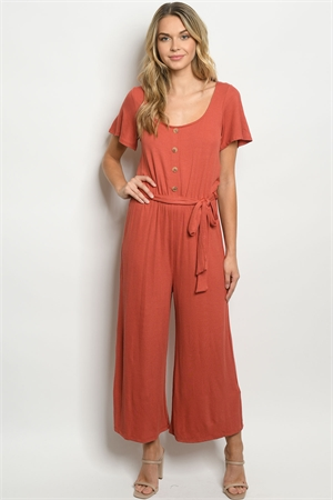 C37-A-1-J6734 RUST JUMPSUIT 3-2-1