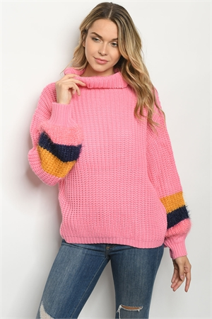 S17-12-2-S1050 PINK SWEATER 1-1-1