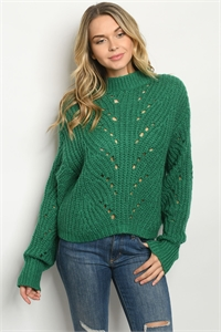 S10-4-1-S90205 GREEN SWEATER 3-2-1