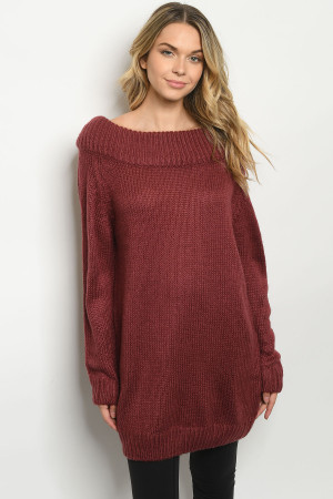 S8-4-1-S29169 MAUVE SWEATER 3-2-1