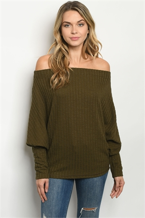 C16-A-1-T2841 OLIVE TOP 3-2-1