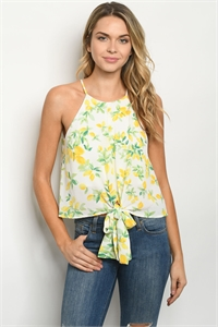 S16-11-1-T44144 IVORY WITH LEMON PRINT TOP 2-1-2-2