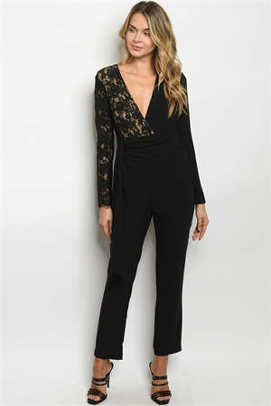 S20-2-2-J90488 BLACK NUDE JUMPSUIT 2-2-2