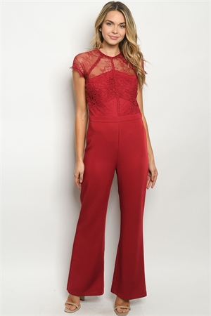 S13-3-2-J90491 BURGUNDY JUMPSUIT 2-2-2