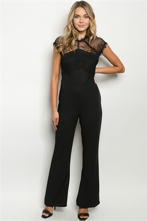 S14-2-2-J90491 BLACK JUMPSUIT 2-2-2