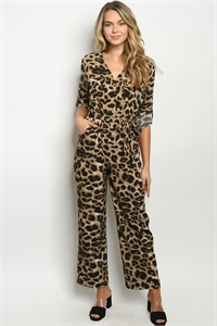 S10-13-2-J8917 ANIMAL PRINT JUMPSUIT 2-2-2-2