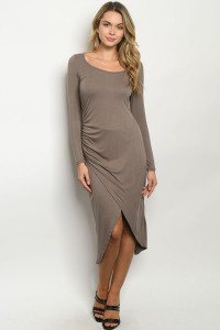 S24-3-1-D1004 BROWN DRESS 2-2-2
