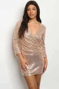 S22-5-1-D252 ROSE GOLD WITH SEAQUINS DRESS 2-2-2