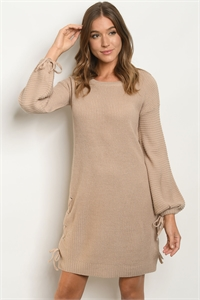 S22-5-2-D04 TAUPE DRESS 2-2-2