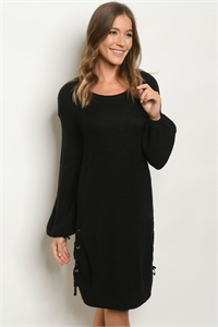 S19-12-2-D04 BLACK DRESS / 3PCS