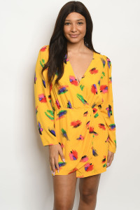 S20-12-2-D3285 YELLOW MULTI PRINT DRESS 3-2-1