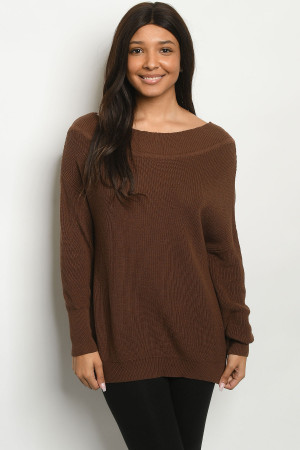 S25-5-2-S2009 BROWN SWEATER 2-2-2