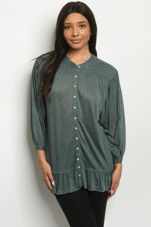 S15-12-4-T181587 GREEN TOP 2-2-2
