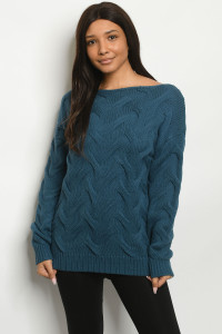 S24-8-2-S0067 TEAL SWEATER 3-2-2