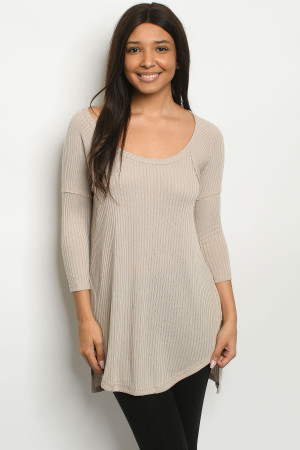 S25-6-1-T7968 TAUPE TOP 2-2-2
