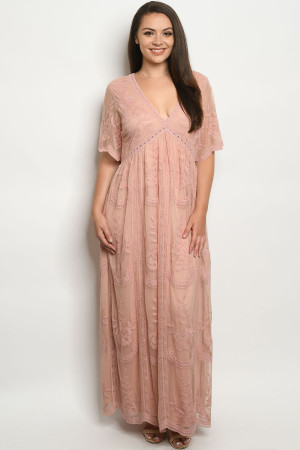 S18-5-1-D5009X BLUSH PLUS SIZE DRESS 3-2-1