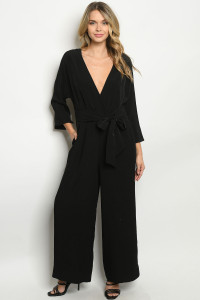 S2-7-1-J70088 BLACK JUMPSUIT 3-2-1