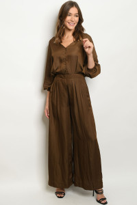 S2-6-1-J70091 BROWN JUMPSUIT 3-2-1