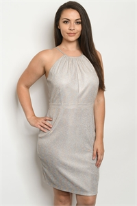 S19-12-2-D6572X IVORY MULTI PLUS SIZE DRESS 2-2-2